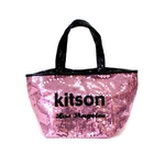 KITSON(キットソン) トートバッグ 0 SEQUIN MINI TOTE ミニスパンコール 2009新作 ピンク×ブラック(3562)