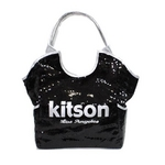 KITSON(キットソン) スパンコール トートバッグ 3317 SEQUIN TOTE ブラック