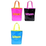 KITSON(キットソン) Neon tote エナメル トートバッグ ブルー(3863)