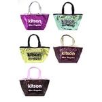KITSON(キットソン) sequin mini ミニスパンコール トートバッグ ゴールド×ブラック(3557)