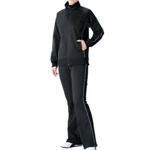 チタン着やせサウナスーツ ブラック*サックス L