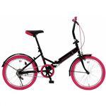 20インチ折畳自転車カラータイヤモデル GFD-20TNPK ピンク