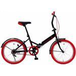 20インチ 折り畳み自転車カラータイヤモデル GFD-20TNRD レッド
