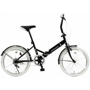 20インチ折畳自転車カラータイヤモデル GFD-20TNWH ホワイト