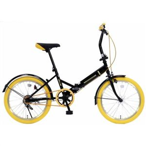 20インチ折畳自転車カラータイヤモデル GFD-20TNYE イエロー