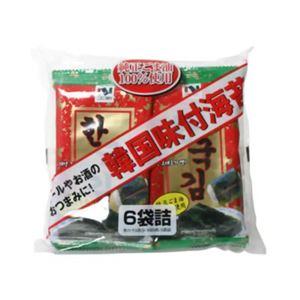韓国味付海苔 6袋(8切8枚) 【7セット】
