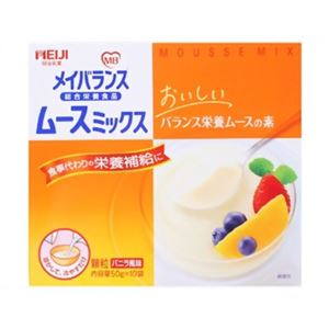 明治 メイバランス ムースミックス バニラ風味 50g×10袋入