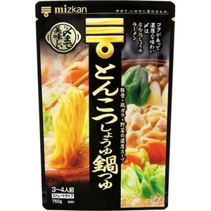 ミツカン シメまで美味しい とんこつしょうゆ鍋つゆストレート 750g 【11セット】
