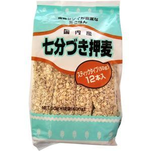 日本精麦 七分づき押麦 スティックタイプ 50g×12袋【5セット】