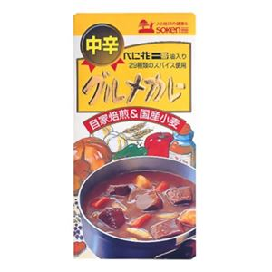 創健社 グルメカレー 中辛 115g【7セット】