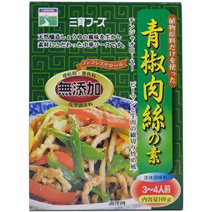 三育 植物原料だけを使ったチンジャオロース(青椒肉絲)の素 100g【8セット】