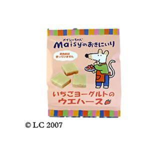 創健社 メイシーちゃんのおきにいり いちごヨーグルトのウエハース 12個【23セット】