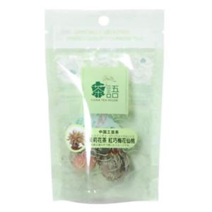 茶語 中国工芸茶 茉莉花茶 紅巧梅花仙桃 ミニパック 【4セット】