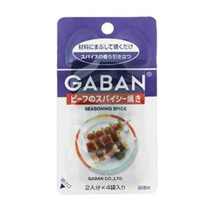 ギャバン シーズニングスパイス ビーフのスパイシー焼き 2人分×4袋【18セット】