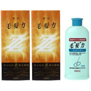 【数量限定セット】薬用毛髪力 ZZ(ダブルジー)×2本+シャンプー付 【育毛剤】