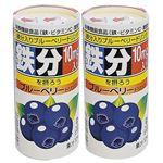【ケース販売】TETSU(鉄)ブルーベリードリンク 210g*30本