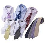 OLセレクト! Yシャツ5枚+ネクタイ9本 14点セット M