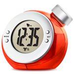 ベルソス ウォーター バッテリー アラームクロック(目覚まし時計) レッド VS-302