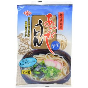 【ケース販売】ヒシジン あごだしうどん 半生 特製あごだしスープ付 2人前×10袋