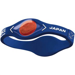 パワーバランス シリコンブレスレット サッカー日本代表チームモデル M 19.0cm