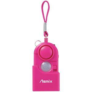 (まとめ買い)Asmix 防犯スリムアラーム TA10P ピンク×2セット