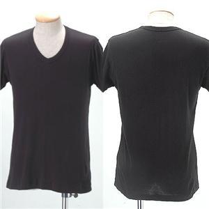 Vネックインナーマッスルシャツ(半袖)【同色2枚組】 ブラック M