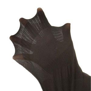 下半身のスリミングサポート 薄型ハイウエスト骨盤スパッツ【同色2枚セット】 ブラック L-LL