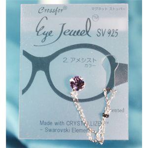 眼鏡につける新感覚ジュエリー Eye Jewel 2アメジスト
