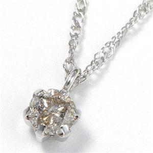 K10シンプルダイヤモンドペンダント ホワイトゴールド/701000−61356