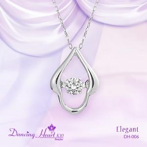 クロスフォーDancing Heart(ダンシングハート)  DH-006  【Elegant】 ダイヤモンドペンダント