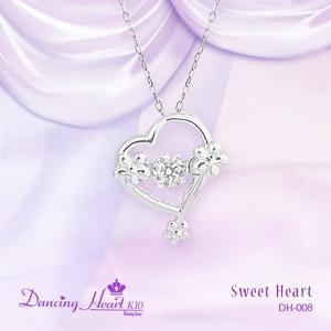 クロスフォーDancing Heart(ダンシングハート)  DH-008  【Sweet Heart】 ダイヤモンドペンダント
