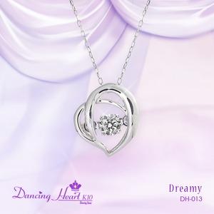 クロスフォーDancing Heart(ダンシングハート)  DH-013  【Dreamy】 ダイヤモンドペンダント