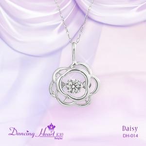 クロスフォーDancing Heart(ダンシングハート)  DH-014  【Daisy】 ダイヤモンドペンダント
