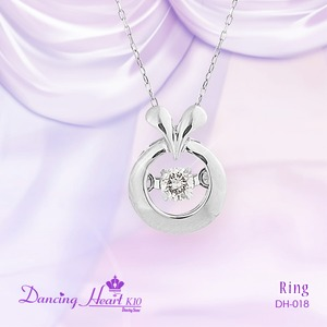 クロスフォーDancing Heart(ダンシングハート)  DH-018  【Ring】 ダイヤモンドペンダント