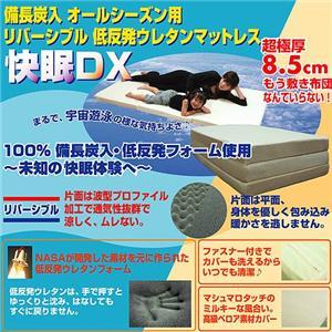 備長炭入 リバーシブル低反発マットレス 快眠DX