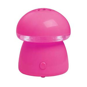 一人暮らしに スチーム式アロマ加湿器 Mushroom  ピンク