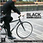 700C クロスバイク 6段変速 adjustable stem付 TRAILER(トレイラー) ブラック