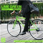 700C クロスバイク 6段変速 adjustable stem付 TRAILER(トレイラー) ライムグリーン