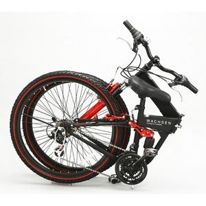WACHSEN 26インチ 折畳マウンテンバイク 18段変速 ブラック/レッド