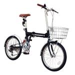 20インチ折りたたみ自転車 ヘブンズ シマノ6段変速モデル ブラック