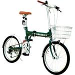 20インチ折たたみみ自転車 ヘブンズ シマノ6段変速モデル グリーン