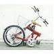 20インチ折畳み自転車 ヘブンズ シマノ6段変速モデル レッド 写真2