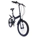 20インチ折畳自転車 ツヤ消しカラー グローイングフラット リミテッド