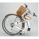 WACHSEN 26インチ 折畳式シティサイクル シマノ6段変速付 ホワイト/ブラウン 写真2