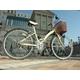 WACHSEN 26インチ 折畳式シティサイクル シマノ6段変速付 ホワイト/ブラウン 写真3