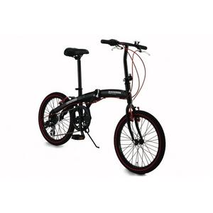 WACHSEN(ヴァクセン) 20インチアルミ折畳自転車 ブラック&レッドの詳細を見る
