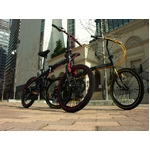 WACHSEN(ヴァクセン) 20インチアルミ折畳自転車 ブラック&レッド