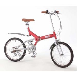 GROWING FLAT 20インチ 折りたたみ自転車 ワインレッド