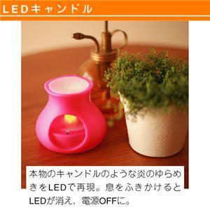 PRISM LED アロマキャンドル ふわり ピンク