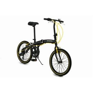 WACHSEN(ヴァクセン) 20インチアルミ折畳自転車 ブラック&イエロー 自転車用アクセサリ4種セット付きの詳細を見る